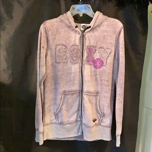 Roxy purple zipper Jacket- Sized Large